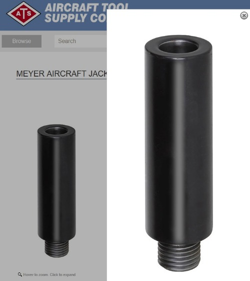 "[해외] 항공기정비공구 ATS  MEYER AIRCRAFT JACK EXTENSION BAR (5.5"")  AT-EB055,  (10.5"") AT-EB105"