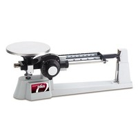 [해외] Ohaus Dial-O-Gram Stainless Steel Top Loading Mechanical Triple Beam Balance with Stainless Steel Plate, Tare and Attachment Masses, 2610g x 0.1g