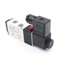 [해외] Baomain Pneumatic Air Control Solenoid Valve 4V210-08 DC 12V 5 Way 2 Position PT1/4 Internally Piloted Acting Type Single Electrical Control