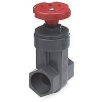 [해외] King Brothers Inc. GVG-1000-S Nds ProGuard Gate Valve, 1 In, Ips Hub, Sch 80 Pvc, Gray Body, Handle 1-Inch Red