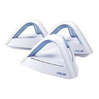 [해외] ASUS Lyra Trio (3 Pack) Home Mesh WiFi System AC1750, Dual-Band, AiProtection Lifetime Security by Trend Micro, Parental Control