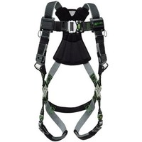 [해외] Miller by Honeywell RDTFD-TB/UBK Standard Revolution Full-Body Harness with Front D-Ring and Tongue Buckle Legs, Universal, Black