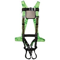 [해외] Miller by Honeywell P950QC-4/XXXLGN DuraFlex Python Full-Body Ultra Harnesses with Tubular Webbing and Comfort D-Pad, XXX-Large, Green