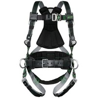 [해외] Miller Revolution Full Body Safety Harness with Quick Connectors, Removable Belt, Side D-Rings and Pad, Size 2X and 3X, 400 lb. Capacity (RDT-QC-BDP/XXL/XXXLBK)